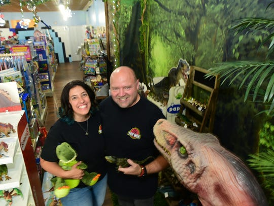 Tony and Kristen Laidig are the owners ar Toy Box Gifts