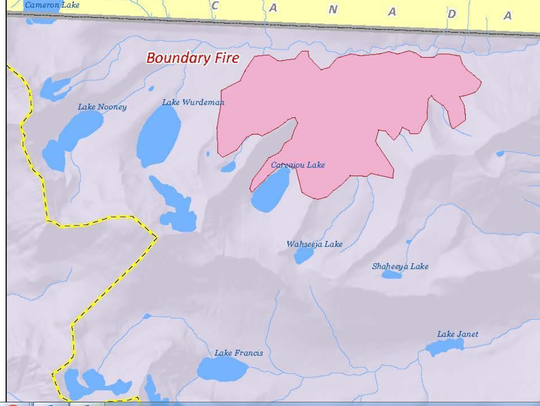 The Boundary fire was 2,125 acres as of Sunday.