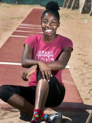 Burges athlete Arielle Mack earned silver in the long