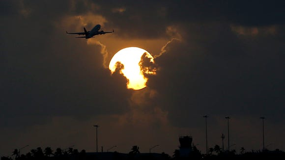 This file photo from August 2015 shows a plane taking