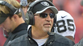 Tony Sparano in 2014 when he was coach of the Raiders.