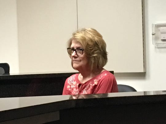 Barbara Dixon testifies during a preliminary examination