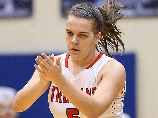 Center Grove Trojans guard Cassidy Hardin