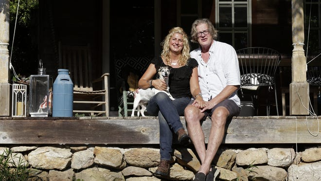 """Heather and Tom LaGarde of Saxapahaw, N.C., left New York after the events of 9/11. """"We try to echo some of what we loved"""" in New York, Heather says, """"but living in an easier, simpler, more natural place."""""""