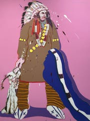 """Portrait of an American"" by Fritz Scholder."