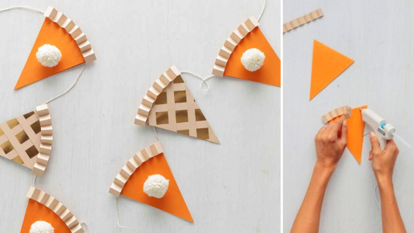 Pumpkin pie garland