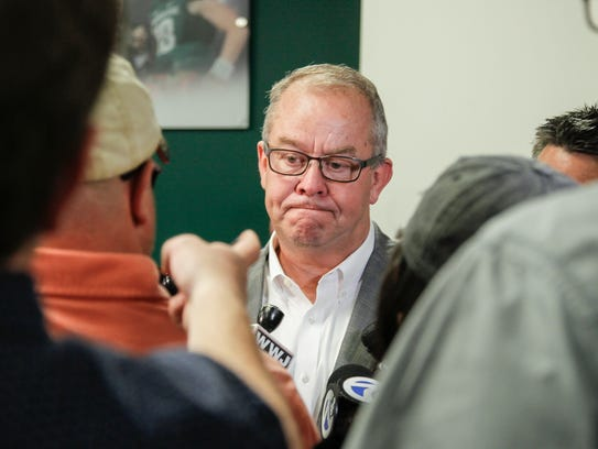 Mark Hollis, Michigan State's athletic director, spoke