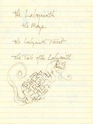 Labyrinth Novelization Journal page