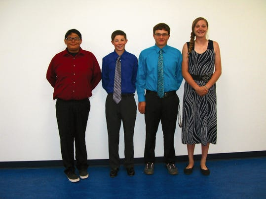 RHS Junior Class Officers 2015-2016 are, from left; Vice-President Nikki Kayitah, President Garrett Eggleston, Secretary Kyler Woodul, and Treasurer Lia Mosher.