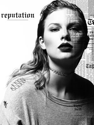 "Taylor Swift album art for ""Reputation."""