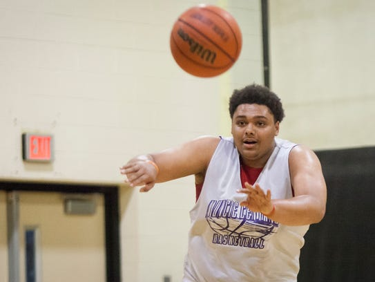 Muncie Central's boys basketball team practices in