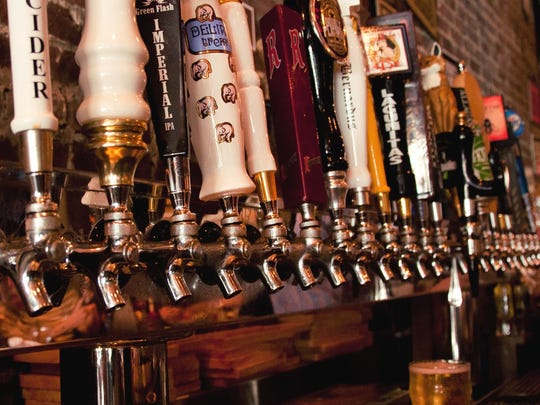An extensive beer list is a big draw at Brickwall Tavern.