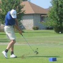 A Bomber golfer tees off on the fourth hole during a match at Big Creek Golf & Country Club.