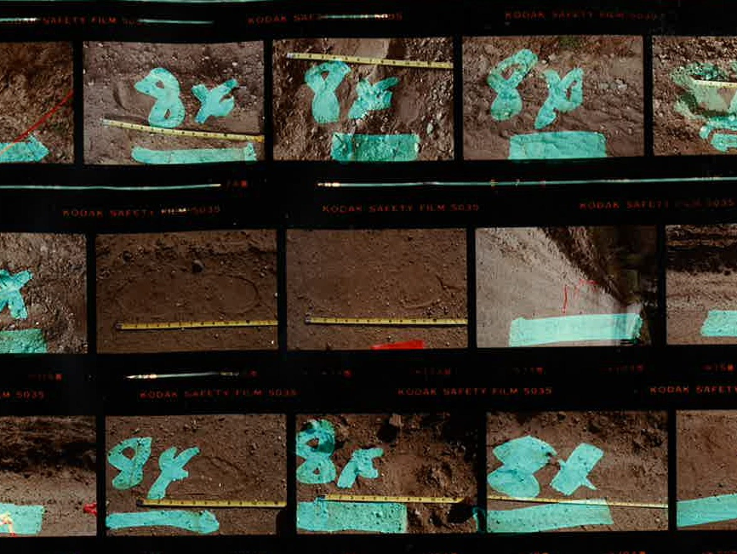 Photographs of evidence from the crime scene.
