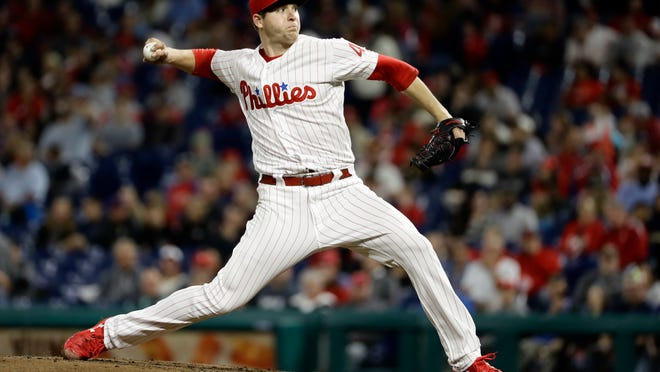 Jerad Eickhoff tied a Phillies' club record by striking out seven straight Atlanta Braves hitters last September in Philadelphia.