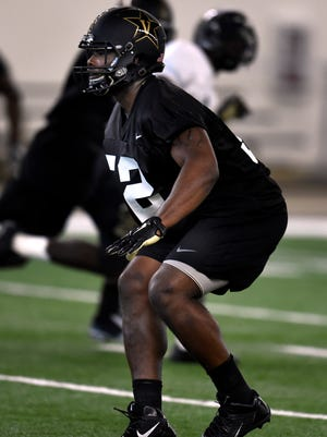 Vanderbilt linebacker Nigel Bowden missed most of the 2015 season because of a concussion. But he's back and can be seen in Vanderbilt's Black and Gold game at 6 p.m. Friday.