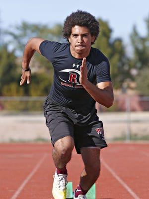 Desert Ridge High School sprinter Tavian Patrick is the top returning sprinter in state who made All-Arizona in football as a kick returner.