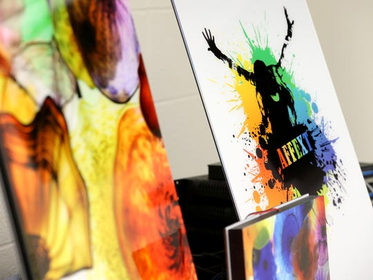 Custom printing can be applied to the prototype flat-panel