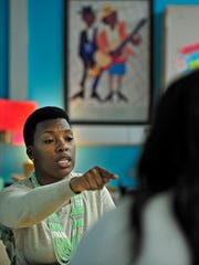 Whitney Bradley teaches eighth-graders during a global literacy class at Bailey Middle School in Nashville.
