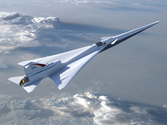 NASA's in-development Low Boom Flight Demonstration aircraft, or LBFD, which could fly as soon as 2021.