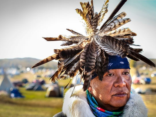 Havasupai tribe medicine man Uqualla, shown at the