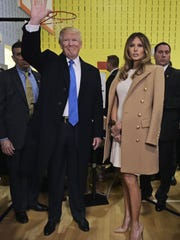 Donald Trump and his wife, Melania, are seen after