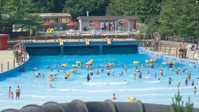Wave pool at the Beach Waterpark.