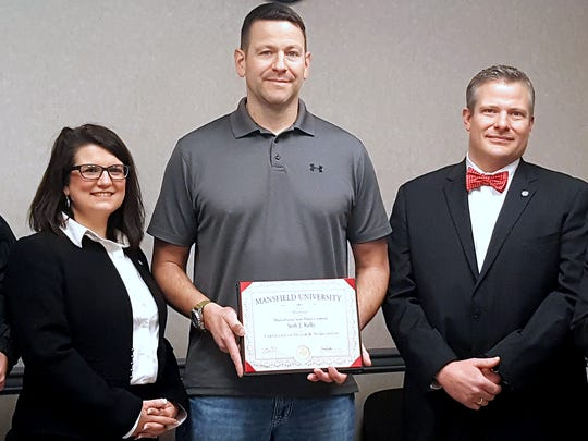 Mansfield University recently honored 2000 graduate