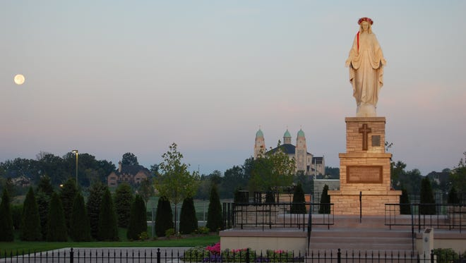 The Marian Wayside Shrine is located in St. John, Ind.