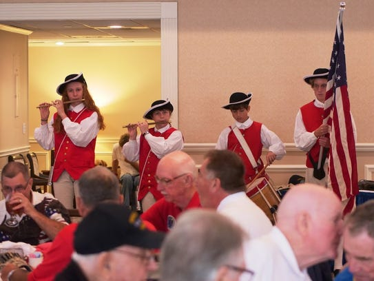 Master's Academy Fife & Drum Corps gave a special performance