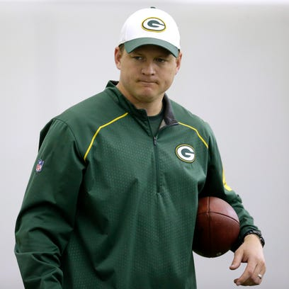 Green Bay Packers receivers coach Luke Getsy during