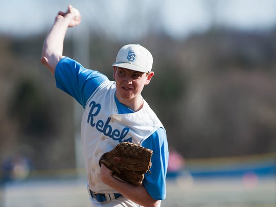 South Burlington's Patrick McMackin delivers a pitch