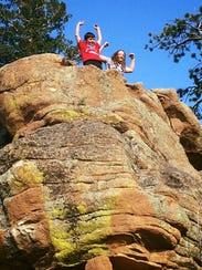 Rock climbing in Estes Park, Colorado