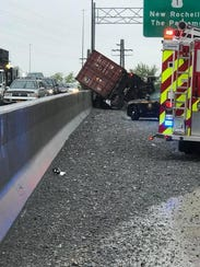 A tractor trailer was involved in a crash on Interstate