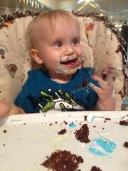 Noah Craten is all smiles on his first birthday.