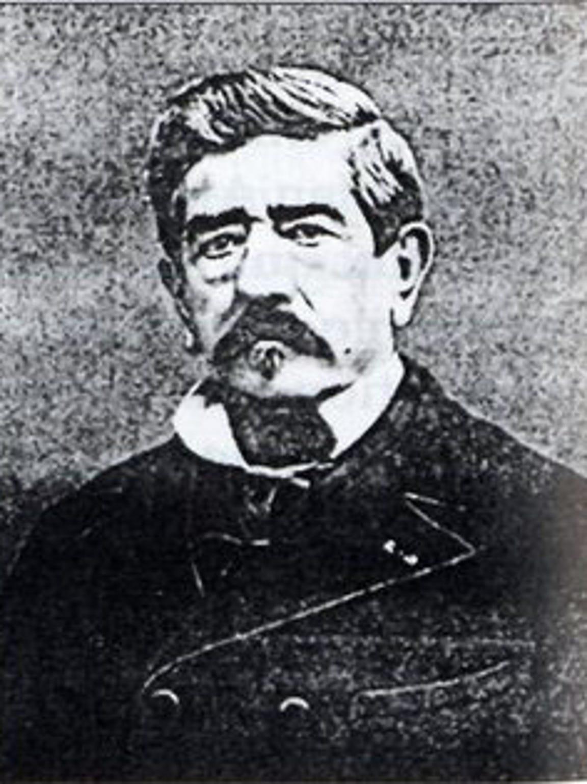 A portrait of Gaetan Picon the inventor of Amer Picon,