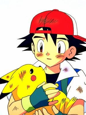 Ash and his Pokemon friend Pikachu