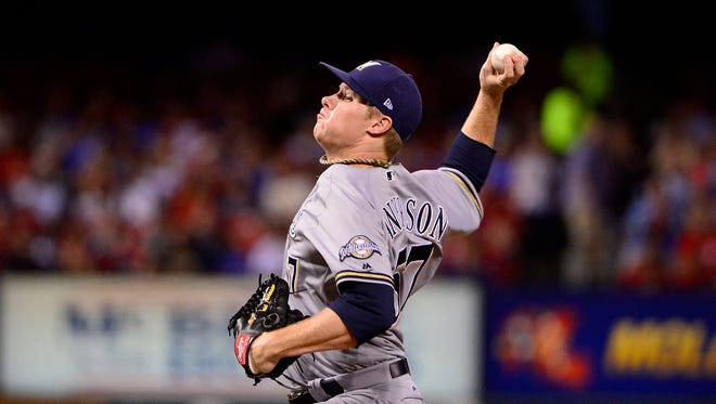 Chase Anderson pitches seven-plus innings on Friday night.