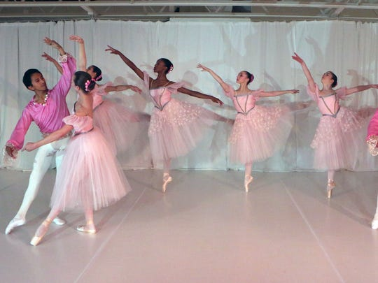 The company dancers with the Ballet des Ameriques in