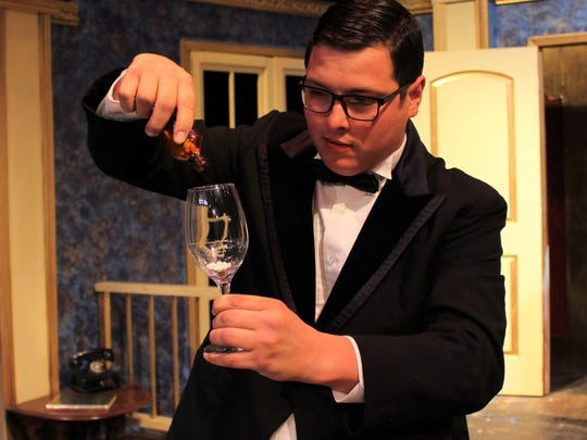 """An Angelo Civic Theatre actor performs during """"Lend Me a Tenor"""" on April 13, 2018."""
