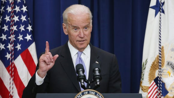 Vice President Biden speaks at the Eisenhower Executive