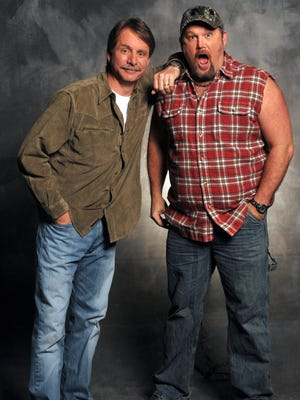 Jeff Foxworthy, left, and Larry the Cable Guy will play the Resch Center in Ashwaubenon on Oct. 9.