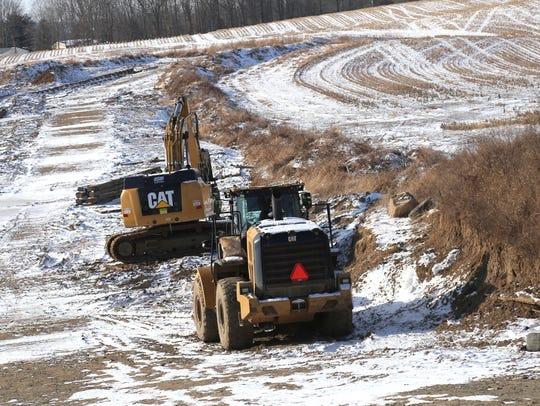The Rover Pipeline, seen under construction Thursday