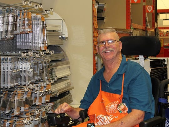 Walter Crary of Williamstown sustained brain and spinal cord injuries in a motorcycle accident in 2005. After years of physical and cognitive rehabilitation, he consistently wins accolades from Home Depot customers and supervisors.