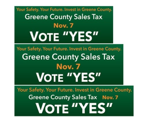 Billboard designs used to advocate for Greene County's