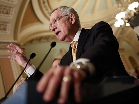 Former Sen. Harry Reid, D-Nev., seen in a file photo.