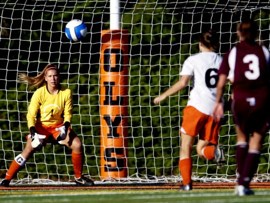 Cody Miles makes a save in goal as Sprague defeats