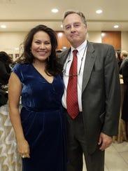 Former El Paso County Judge Veronica Escobar and husband