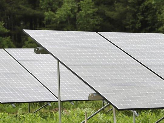 The solar panels at Gordon Bubolz Nature Preserve are
