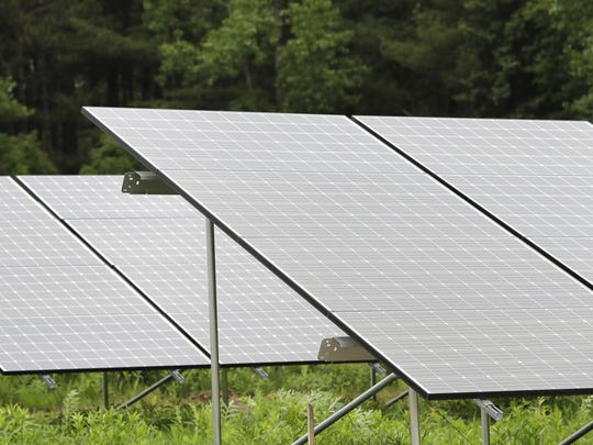 The solar panels at Gordon Bubolz Nature Preserve are part of a microgrid, built by Faith Technologies and Schneider Electric, to power the nature center using renewable energy.
